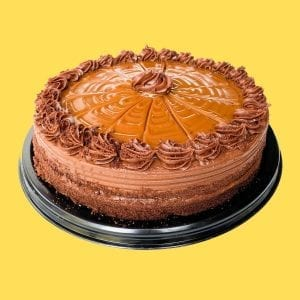 Pastel de chocolate con cajeta