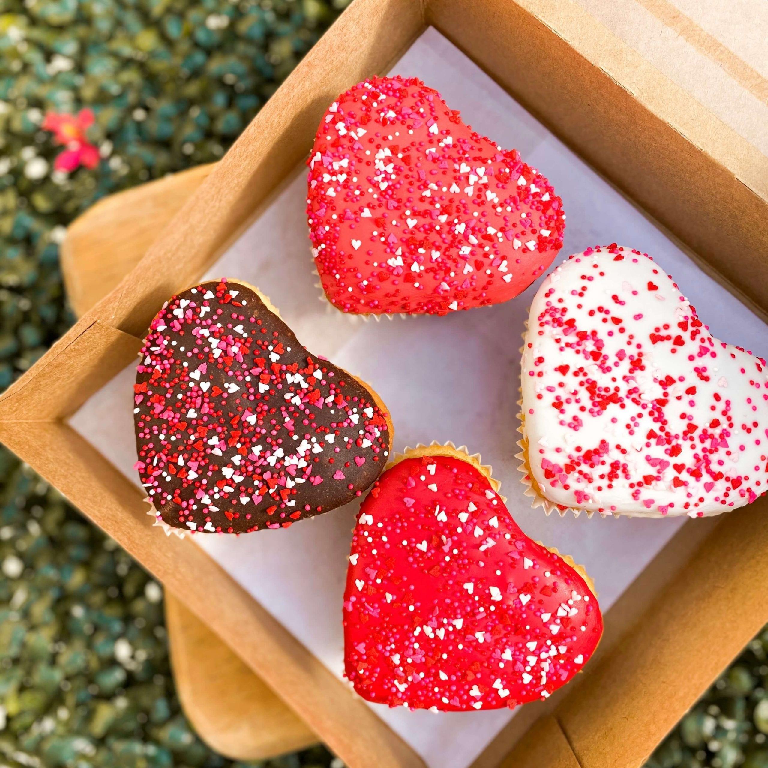 Muffin en forma de corazón